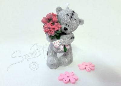 Medvídek s kytičkou